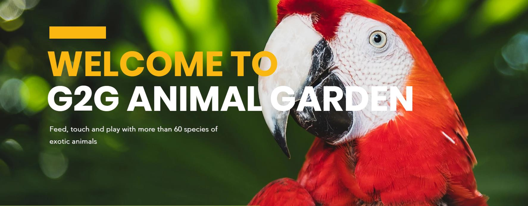 G2G Animal Garden Ticket