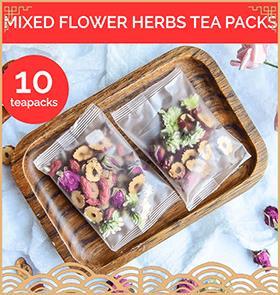 Flower Tea Gift Pack: 10 Mixed Tea packs