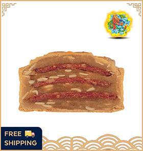 【4 Pcs】肉干莲蓉月饼 Lotus Dried Meat